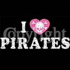 Wholesale T-Shirts Pirates Supplier Bulk - I Love Pirates Distressed a408e