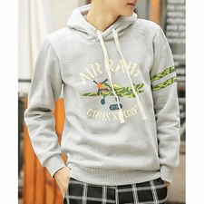 Wholesale Clothing - Casual Style Hooded Letters and Airplane Print Slimming Solid Color Lo