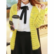 Wholesale Clothing - Color Stitching Thicken Long Sleeve Stylish Womens Cardigan 36.58