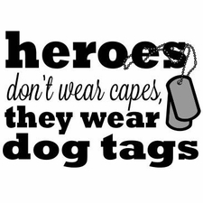 Wholesale Clothing Fashion Supplier Wholesaler Bulk T-Shirts - A11814E heroes dont were capes they wear dog tags