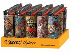 Wholesale Convenience Store Merchandise - BIC TATTOO LIGHTERS