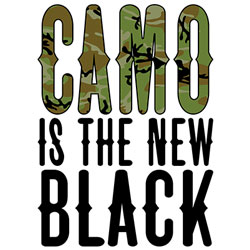 Wholesale Country T Shirts Hoodies Sweatshirts, Buy Cheap Clothing Online - CAMO IS THE NEW BLACK  19904HD2-1