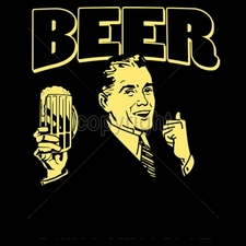 Wholesale Custom Printed Funny Vintage T Shirts - 16536-9x12-beer-helping-white-guys-dance-1862