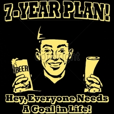 Wholesale Custom Printed Funny Vintage T Shirts - 16537-12x12-7-year-plan-hey-everyone-needs-goal-life