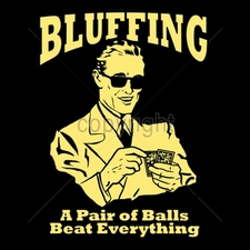 Wholesale Custom Printed Funny Vintage T Shirts - 16540-10x13-bluffing-pair-balls-beat-everything