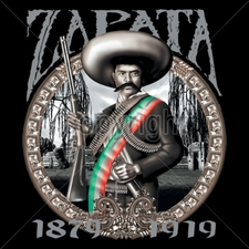 Wholesale Custom Printed Gun T Shirts - 10300-12x13-zapata-mexican-revolution