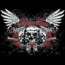 Wholesale Custom Printed Gun T Shirts - 12353-11x9-death-dishonor