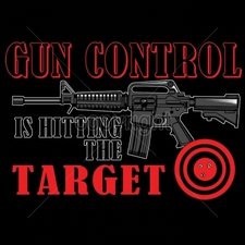 Wholesale Clothing Apparel - Gun T Shirts - 15987-12x8-gun-control-hitting-target