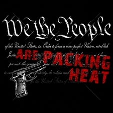 Wholesale Custom Printed Gun T Shirts - 15989-12x9-we-people-are-packing-heat