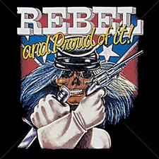Wholesale Custom Printed Gun T Shirts - 4423-12x14- rebel flag