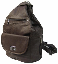 Wholesale Firearms Accessories - 7029. Concealment Backpack- Brown (Special) 52.50