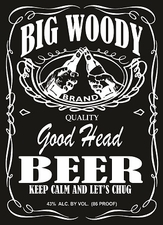 Wholesale Custom Clothing, Printed T Shirts Suppliers Funny Clothing - Big Woody Beer Captain Jack 0 1White