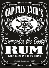 Funny T Shirts - Rum_CaptJack01White