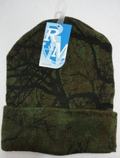 Wholesale Hats Bulk Winter - WN674. Knitted Toboggan [Hardwoods Camo]