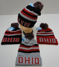 Wholesale Hats Bulk Winter - WN676. Knitted Hat with PomPom--OHIO