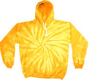 Wholesale Tie Dye Hooded Sweatshirts - SPIDER GOLD