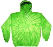 Wholesale Sweatshirts Hoodies Tie Dye Bulk - SPIDER LIME