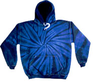 Wholesale Tie Dye Hooded Sweatshirts - SPIDER NAVY