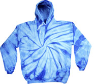Wholesale Tie Dye Hooded Sweatshirts - SPIDER BABY BLUE
