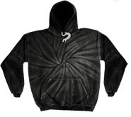 Bulk Wholesale Sweatshirts Hooded Tie Dye - Black