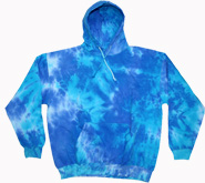 Wholesale Sweatshirts Hoodies Tie Dye Bulk - BLUE MIX