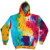 Bulk Wholesale Sweatshirts Hoodies Tie Dye - MULTI RAINBOW