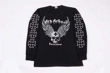 Wholesale long sleeve t-shirts - S257LSP old school forever