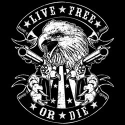 Wholesale Military Custom Designs T-Shirts Bulk - LIVE FREE EAGLE 19516D2-1