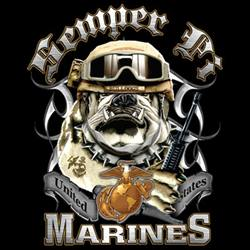Wholesale Military Custom Designs T-Shirts Bulk - MARINES 002  18259D2-1