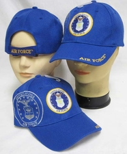 Wholesale Caps, Wholesale Hats, Military - C641AA Air Force Logo W Shadow Blue