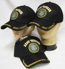 Wholesale Caps Hats - Military Fashion - CAP591A Army Vet & Seal Mesh Cap 2C