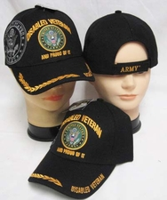 Wholesale Caps Hats - Military Fashion - CAP591F Disable Army Vet Cap