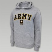 Army Hoodies, Military Hoodies - army-arch-star-hood-grey