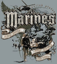 Wholesale Wholesalers Products Clothing - Marines Military T Shirts