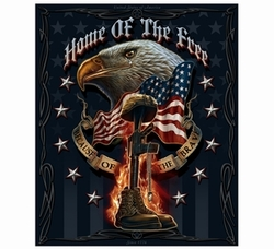 Wholesale Military Products Suppliers Distributors - American Flag M-4 Carbine 2nd Amendment Beach Towel - Home of the Free Because of the Brave Fleece Blanket- 50x60 22.00
