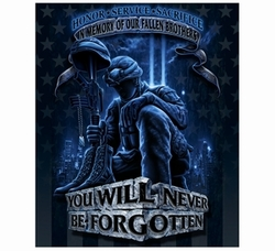 Wholesale Military Products Suppliers Distributors - In Memory of Our Fallen Brothers Fleece Blanket - 50x60 22.00