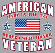 Wholesale Military T-Shirts - 3805 American Veteran