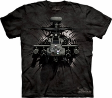 Wholesale T Shirts, Custom Clothing - Apache Breakthru Hellicopter T Shirts, Military Wholesale