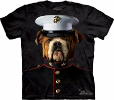 Wholesale T Shirts, Custom Clothing, Military, Bulk - USMC Bulldog T Shirts, Marine