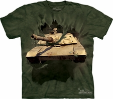 M1 Abrams Tank Breakthru T Shirts, Wholesale Military