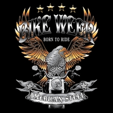 Wholesale T-Shirts Bulk Motorcycle T-Shirts - AMERICAN STEEL
