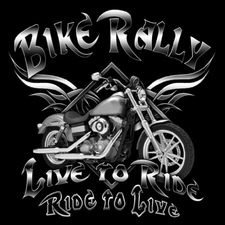 Wholesale T-Shirts Bulk Motorcycle - BIKE RALLY LIVE TO RIDE