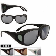 Wholesale Over Glasses Sunglasses 6025 (12 pcs.) (Assorted Colors)