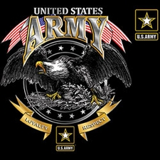 Wholesale Military Style T-Shirts - US ARMY LOYALTY RESPECT EAGLE 19962D1