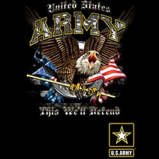 Wholesale Military Style T-Shirts - US ARMY THIS WE'LL DEFEND 19921D1