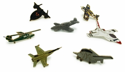 Wholesale Products Bulk Military Suppliers - Military Aircraft Pin 10 Pc Set (Assorted) 24.00
