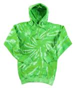 Wholesale Sweatshirts, Wholesale Hoodies, Tie Dye - Lime Tornado