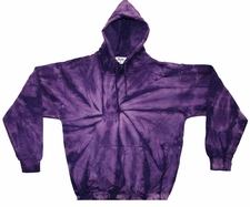 Wholesale Tie Dye Sweatshirts Bulk - PURPLE SPIDER PULLOVER