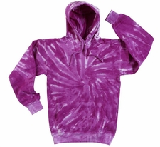 Wholesale Tie Dye Sweatshirts Bulk - Purple Tornado