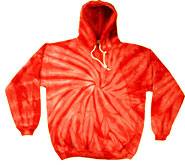 Wholesale Tie Dye Sweatshirts Bulk - RED SPIDER PULLOVER HOODIE
